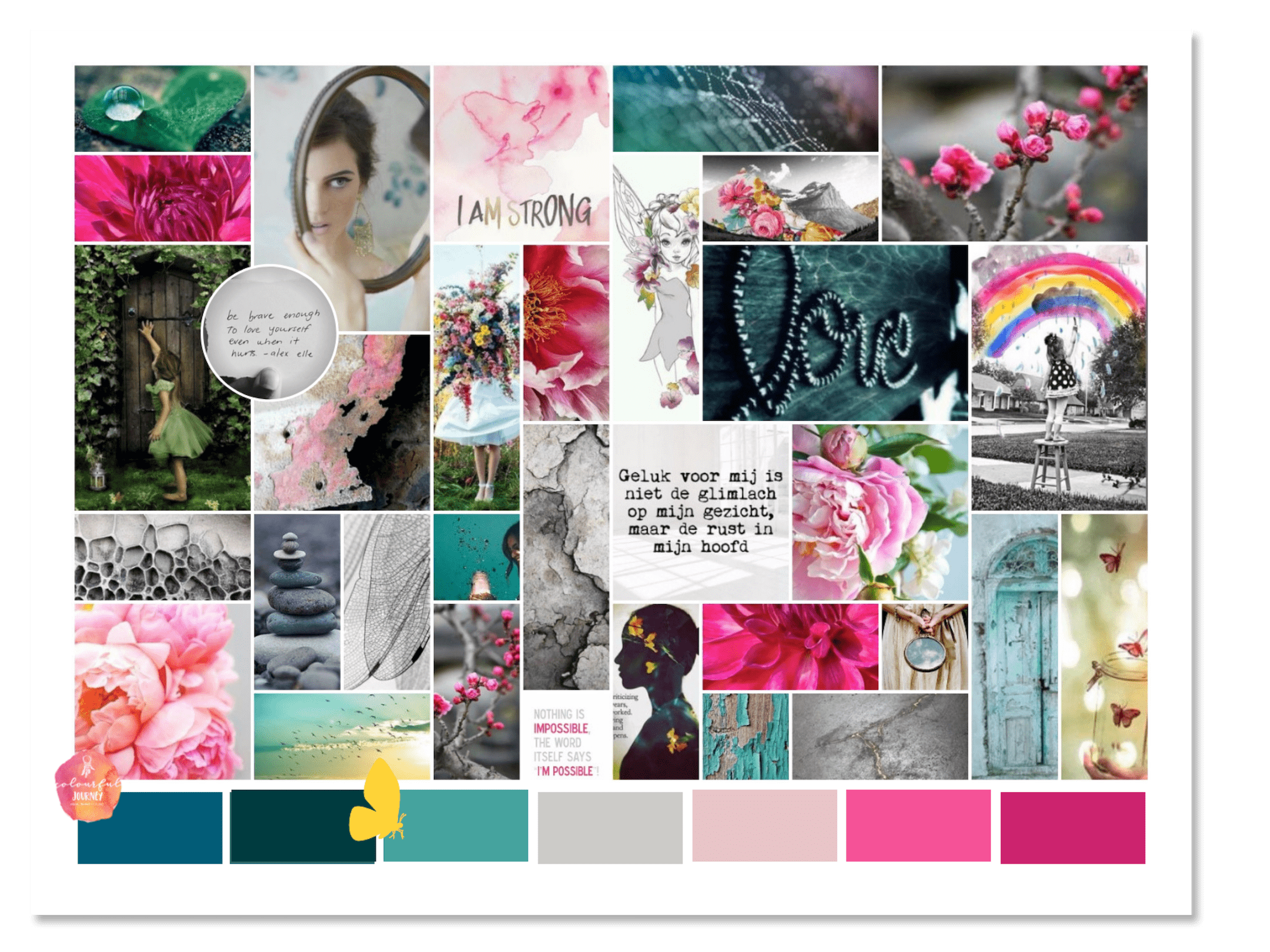 brandboard michelle tukker Colourful Journey