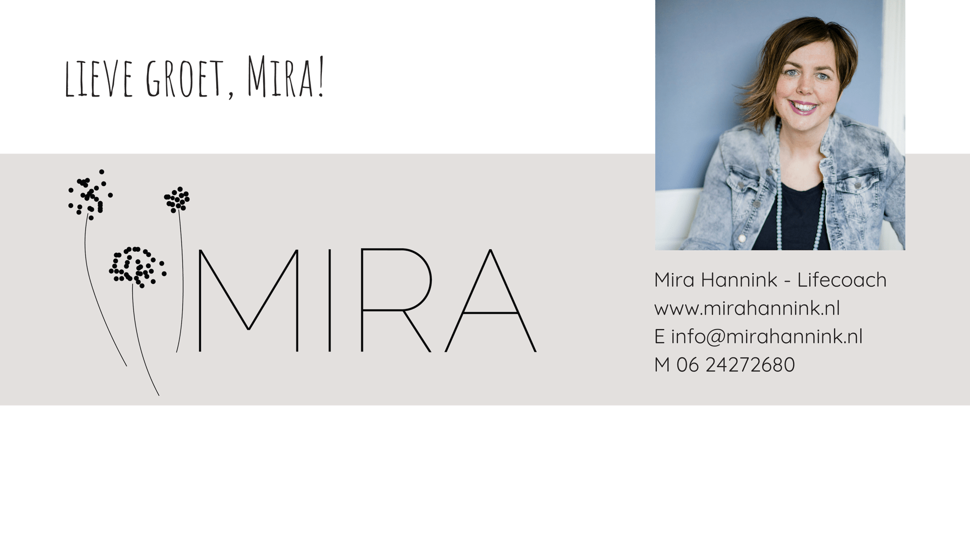 E-mailafsluiter - MIRA HANNINK