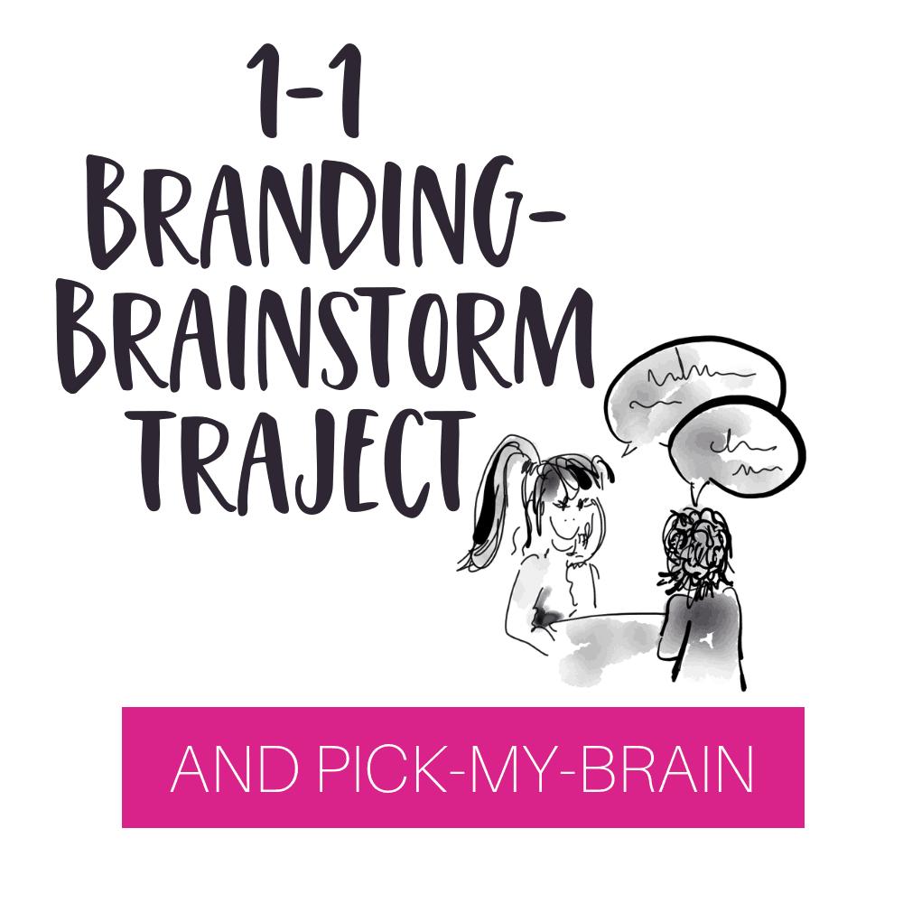 branding brainstorm traject colourful journey