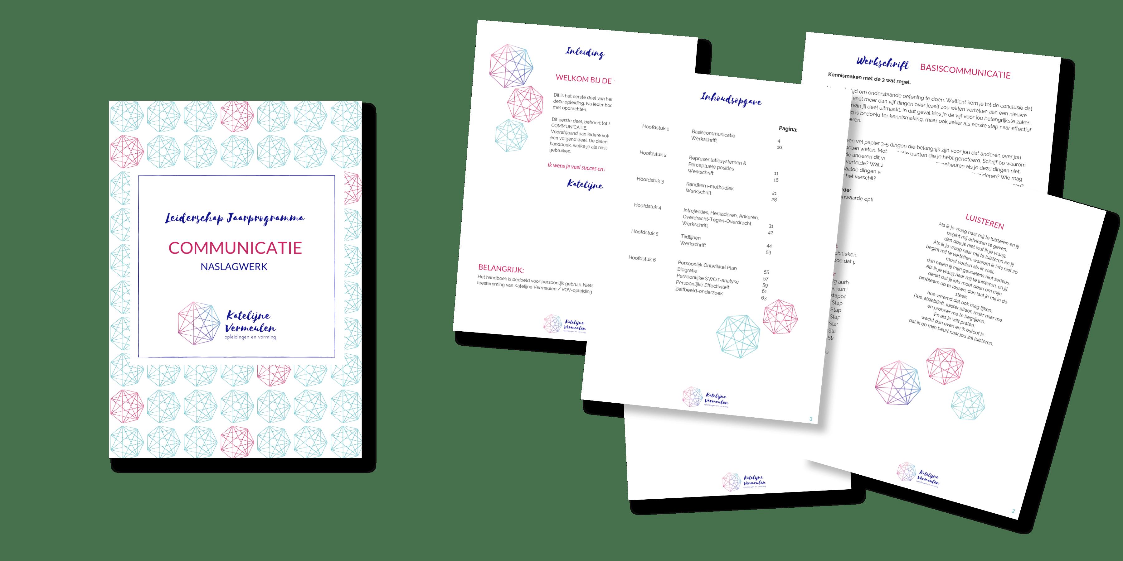 handboek en bladzijdes katelijne