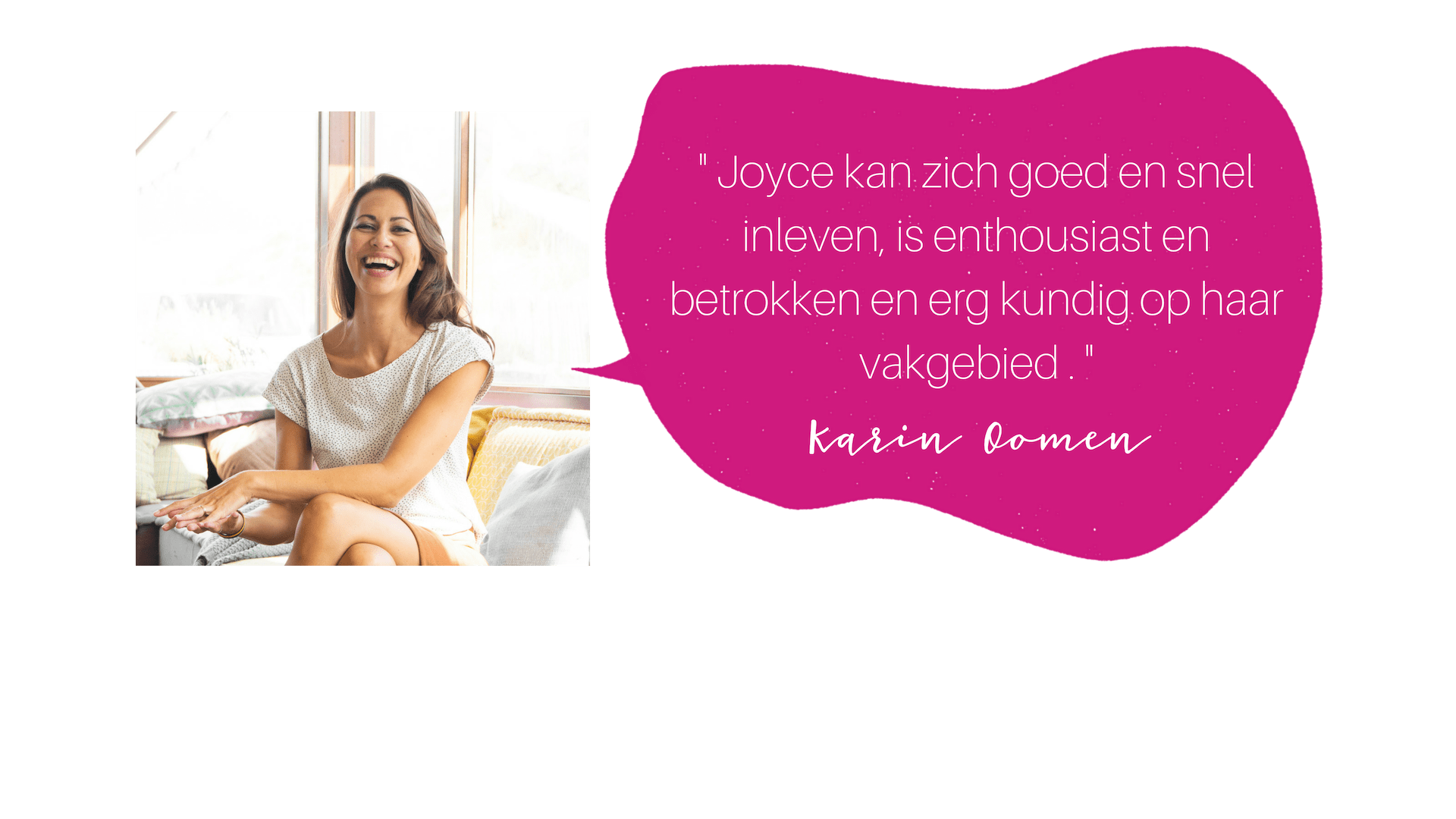 testimonial Karin COLOURFUL JOURNEY