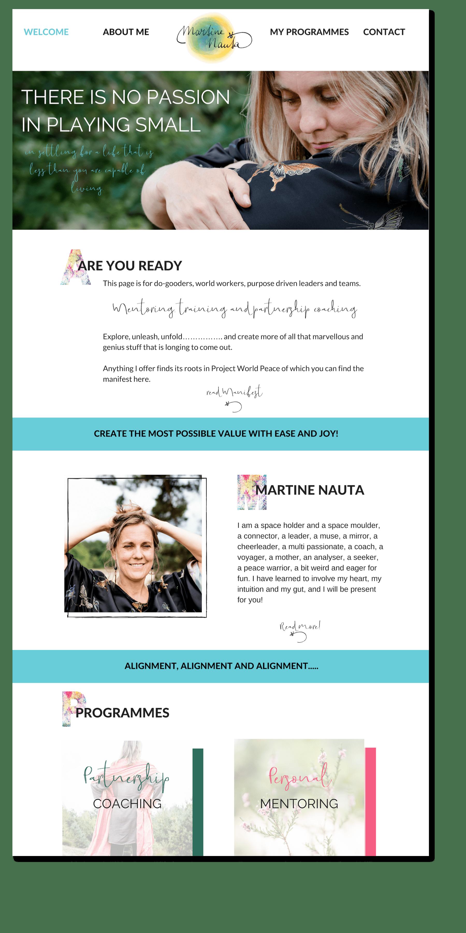 webdesign martine home